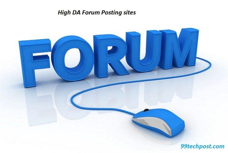 High DA Dofollow Free Forum Posting Sites List 2019 -